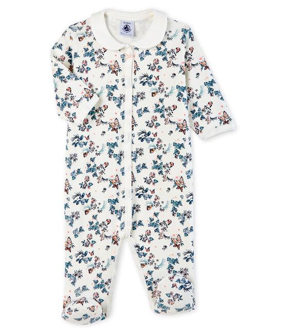 Slaappakje babymeisje van ribstof wit Marshmallow / wit Multico