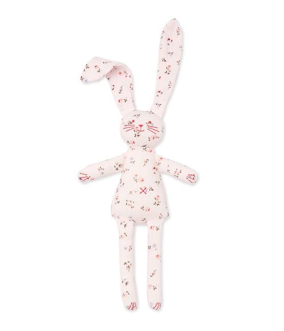 Doudou lapin bébé mixte imprimé roze Vienne / wit Multico