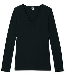 Iconisch T-shirt lange mouwen vrouwen zwart Noir