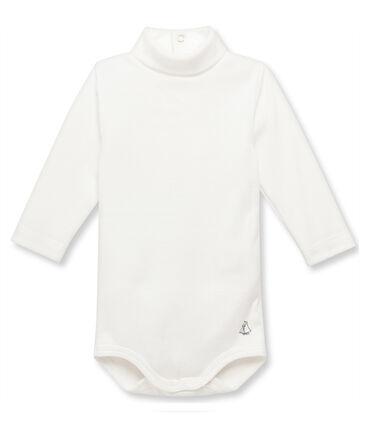 Body bébé à col roulé beige Coquille