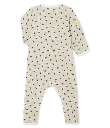 Lang babypakje van wol en katoen beige Montelimar / wit Multico