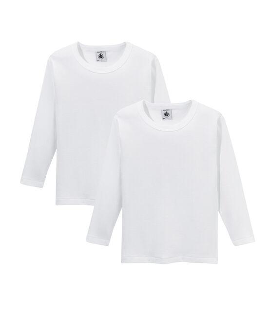 Duo de tee-shirts manches longues garçon lot .
