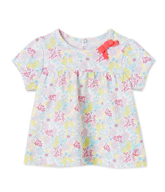 T-shirt bébé fille imprimé wit Ecume / wit Multico