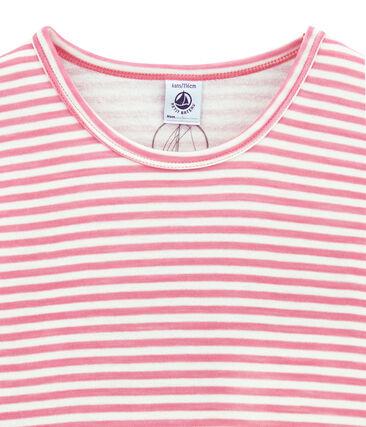 Meisjes tee-shirtmet lange mouwen in wol/katoen