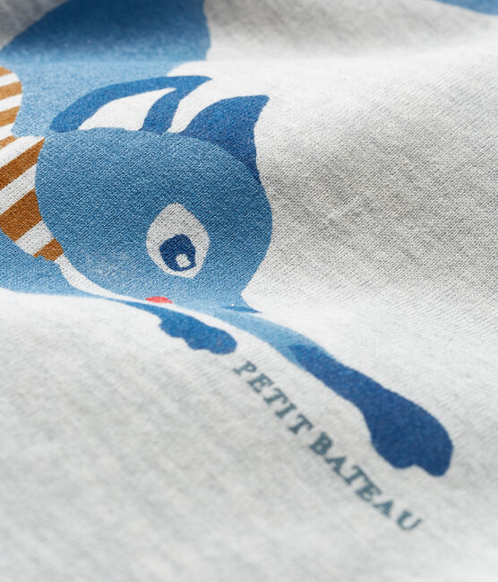 T-shirt met lange mouwen babyjongen grijs Beluga