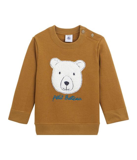 Sweatshirt bébé garçon en molleton marron Cuivre
