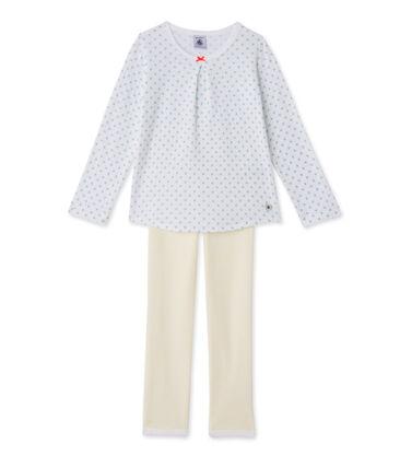Meisjespyjama met print en strepen
