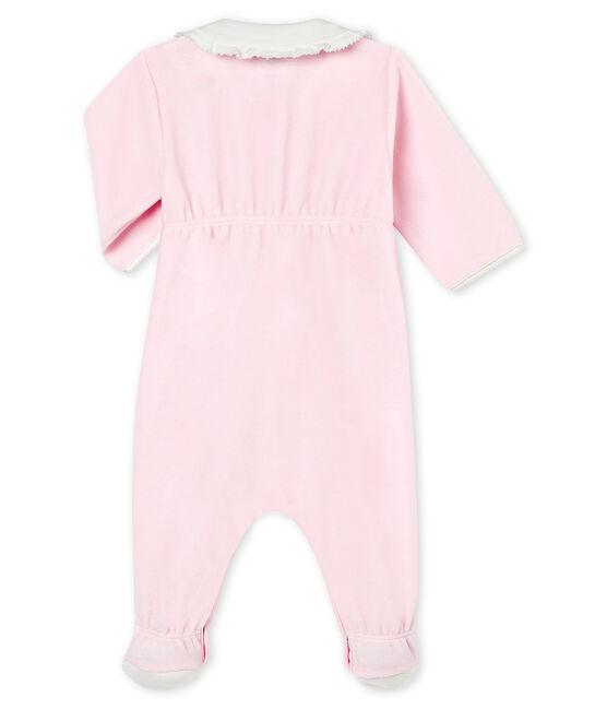 Effen pyjama in katoenfluweel voor babymeisjes VIENNE