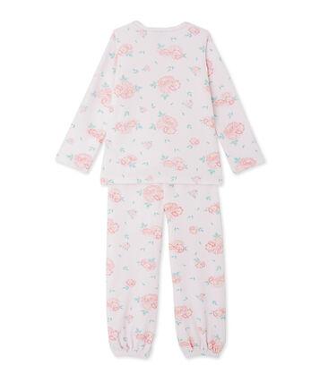 Fluwelen meisjespyjama met bloemenprint