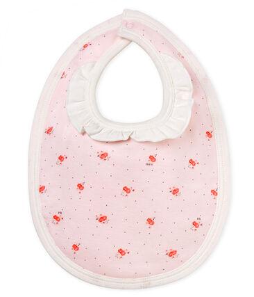 Bavoir bébé fille imprimé rose Vienne / blanc Multico