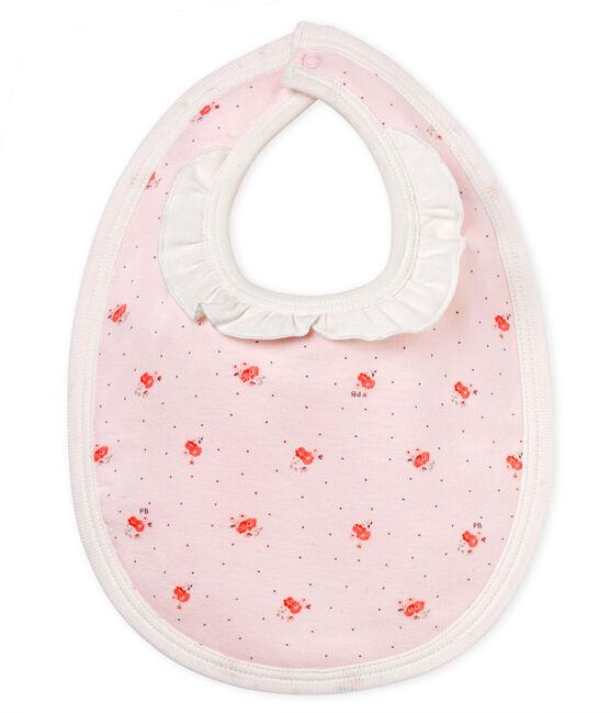 Slabbetje met print voor babymeisjes roze Vienne / wit Multico