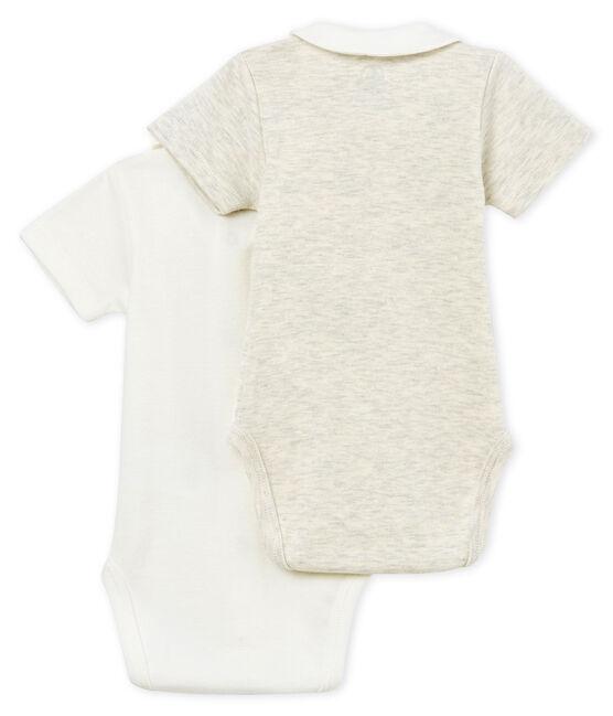 Set met 2 body's met korte mouwen met hals voor babyjongens set .