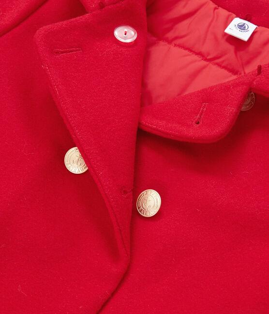 Kinder mantel rood Froufrou