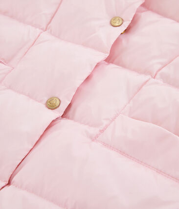Meisjesjack van dons en veren roze Fleur Cn