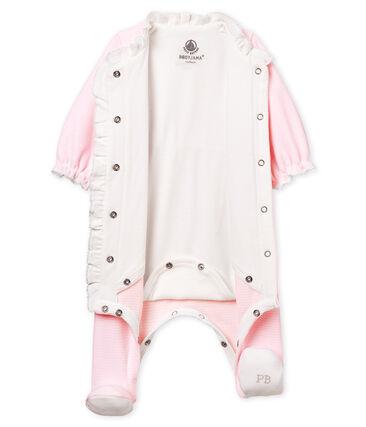 Bodyjama bébé fille en velours milleraies