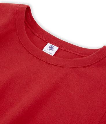Tee shirt manches courtes iconique femme rouge Terkuit