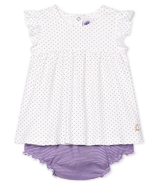 Set van 2 items babymeisje purper Real / wit Marshmallow