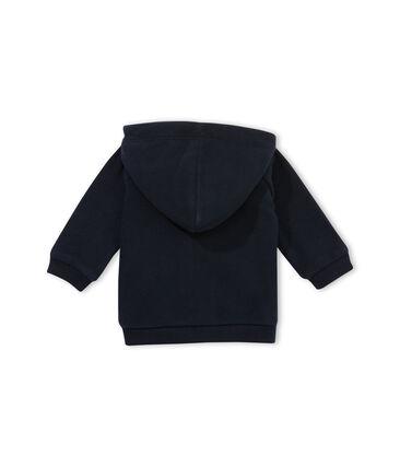 Fleece sweatshirt met rits babyjongen blauw Abysse