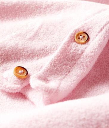 Set van twee babykleertjes, van katoen, merinowol en polyester roze Fleur