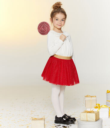 Meisjesblouse wit Marshmallow