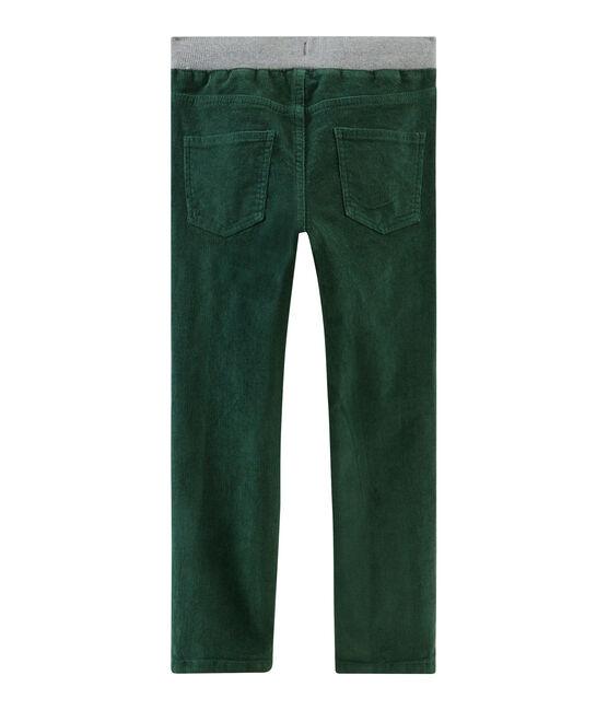 Fluweel item jongens groen Sousbois