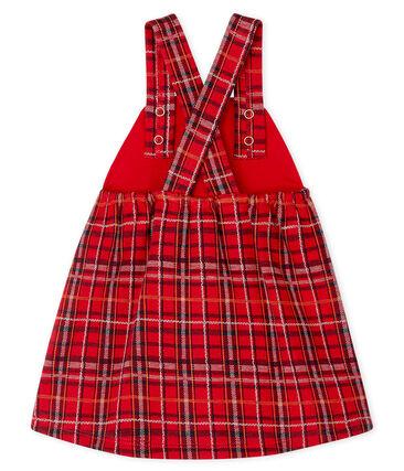 Salopette jurk met ruitjesmotief babymeisje rood Terkuit / wit Multico