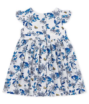 Jurk met korte mouwen en print voor babymeisjes