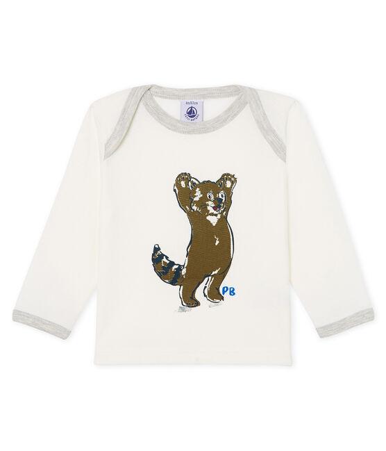 T-shirt met lange mouwen babyjongen wit Marshmallow
