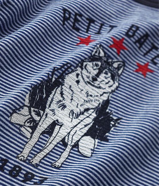 Jongenspyjama met wolfmotief blauw Surf / blauw Major