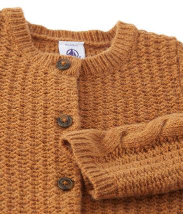 Cardigan in wolmix voor babymeisjes bruin Cuivre