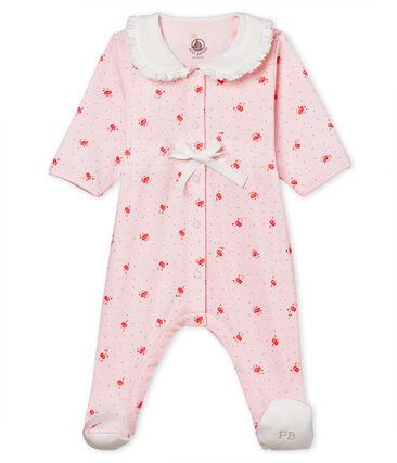 Pyjama van 1x1 ribstof met print voor babymeisjes