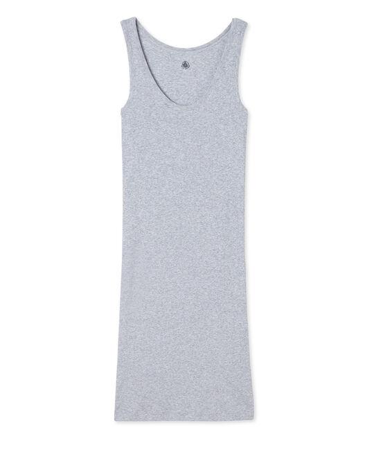 Damesnachthemd in ultralicht katoen grijs Fumee Chine