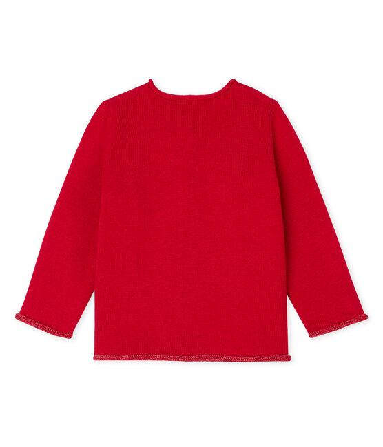 Cardigan babymeisje rood Terkuit