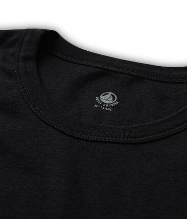 Iconisch T-shirt met lange mouwen mannen zwart Noir