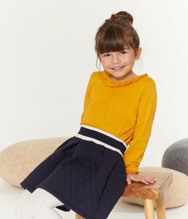 T-shirt met lange mouwen meisjes geel Boudor