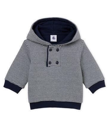 Gestreepte hoodie met wattering voor babyjongens