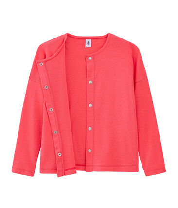 Cardigan enfant fille rose Groseiller