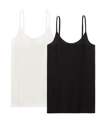 Set van 2 overhemden met schouderbandjes vrouwen