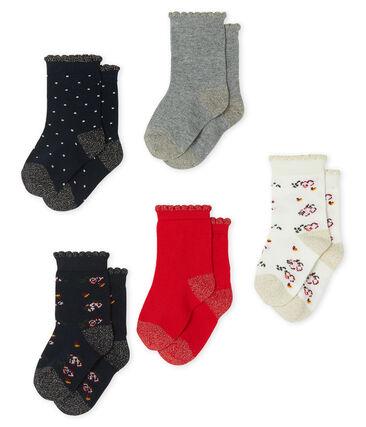 Set van 5 paar sokken voor baby meisje