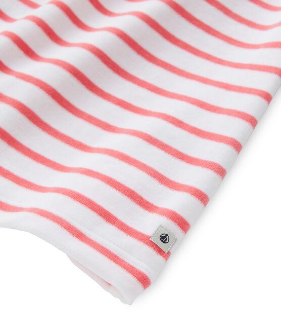 Chemise de nuit fille à rayure marinière et son legging wit Ecume / rood Carmen
