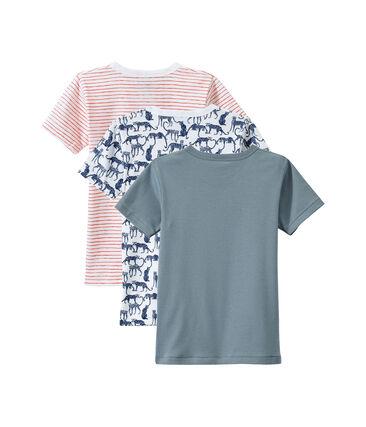Set van 3 jongens-T-shirts met korte mouwen