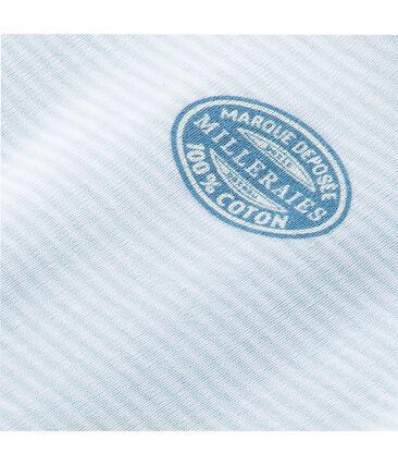 Babybody met lange mouwen en milleraies-strepen voor jongens blauw Fraicheur / wit Ecume