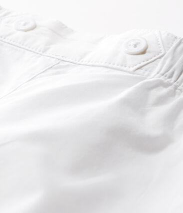 Broek van popeline babyjongen voor speciale gelegenheden wit Ecume
