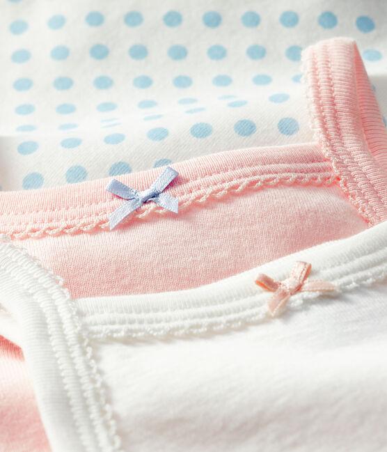 Drie rompertjes met bretels voor babymeisjes set .
