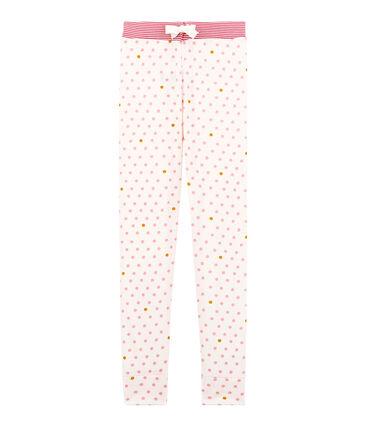 Pyjamabroek voor meisjes wit Marshmallow / wit Multico