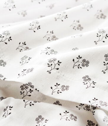 Jurk met print met bloomer voor babymeisje wit Marshmallow / wit Multico