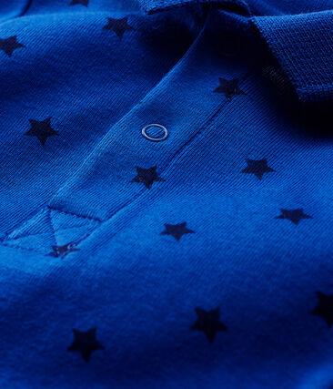 Body met lange mouwen en polokraag babyjongen blauw Limoges / blauw Smoking