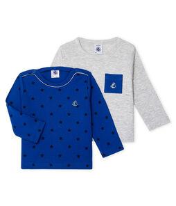 Set van 2 T-shirts lange mouwen babyjongen set .
