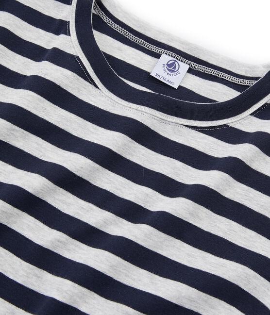 Iconisch T-shirt met korte mouwen vrouwen blauw Smoking / grijs Beluga