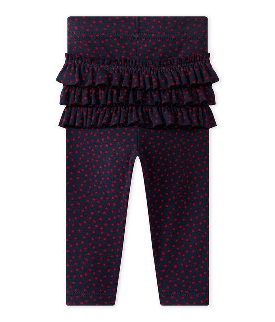 Legging met dessin voor babymeisjes blauw Smoking / rood Terkuit